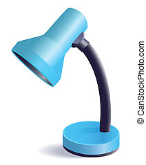 Lamp - The blue office lamp