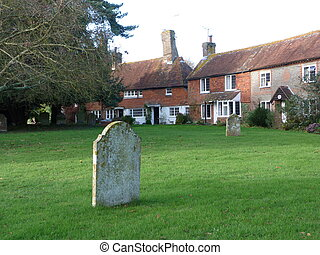 Hellingly churchyard - Cottages around Hellingly churchyard