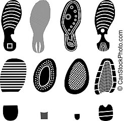 RGB - The collection of a imprint soles shoes