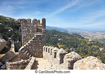 The ruins of the Moorish fortress - The picturesque ruins of...