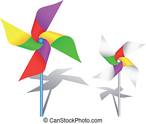 Colorful windmill toy - The colorful pinwheel toy