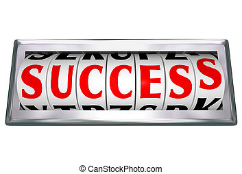 Success Word Wheels Slots Odometer Tracking Successful Goal