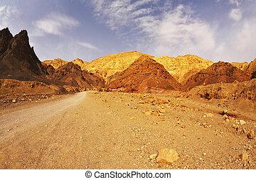 montagne, israele, nero,  canyon