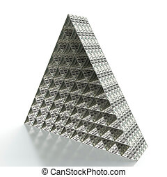Financial pyramid - 3D render of financial pyramid on white...