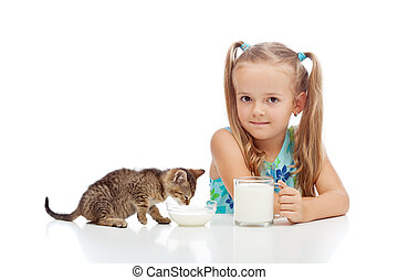 A little fresh milk is good for the little ones