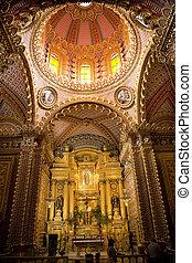 Guadalupita Church Interior Altar Dome Morelia Mexico -...
