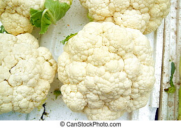 cauliflower - Cauliflower, in the market