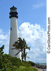 Lighthouse at Bill Baggs State Park on Key Biscayne,Florida