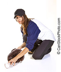 Woman Baseball or Softball Player C - Woman baseball or...
