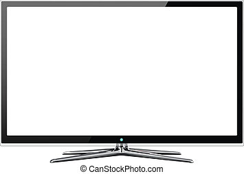 Frontal view of widescreen lcd or lcd monitor isolated on...