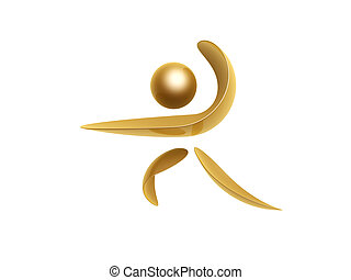 golden sports symbol - golden sports athlete symbol isolated...