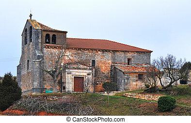 iglesia, Valdorros - iglesia, pueblo, Valdorros