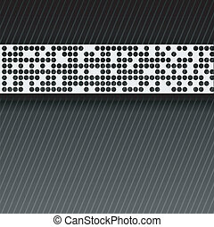bstract perforated paper tape.