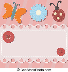 Abstract background with button and sewing