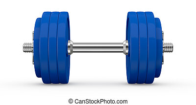 dumbbell - front view of a dumbbell (3d render)