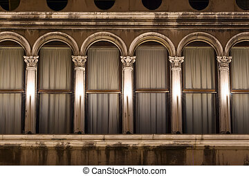 Venice details - architectural details of Venice curtains,...