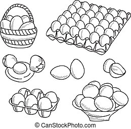 Illustration of eggs - hand drawn picture
