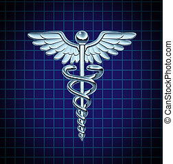 Caduceus Health Care Icon - Caduceus health care symbol and...