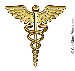 Caduceus Medical Symbol - Caduceus medical symbol as a...