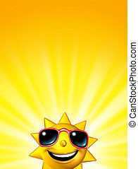 Happy Sunrise Sun Character - Happy sunrise sun character...