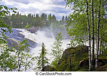 Jockfall waterfall in Sweden - A beautiful and popular place...