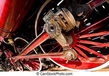 Steam train wheels
