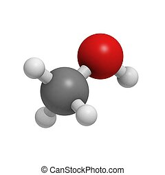 Methanol molecule (chemical structure)