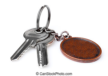 Keys with blank key ring.