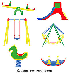 icons children teeter vector illustration isolated on white...
