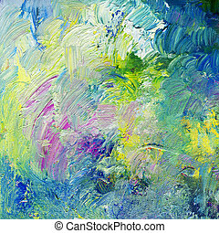 abstract impasto oil paints - colorful impasto oil paint...
