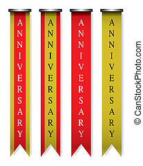 Vertical ribbon anniversary