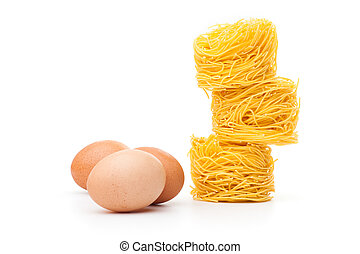 Noodles - Fresh unprepared noodles and eggs