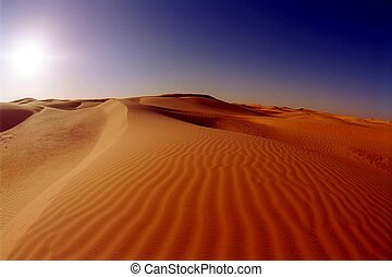 Dunes in the Sahara desert near Timimoun Tinerkouk, Algeria...