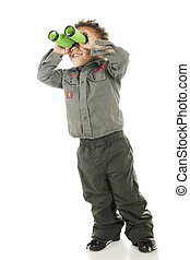 I See It! - An adorable preschooler in Air Force garb...