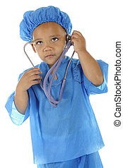 "Is My Brain Ticking? - An adorable preschool ""doctor"" in..."