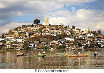 Fishermen Mexico - Fishermen Janitizo Lake Patcuaro Island...