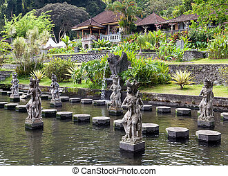 Bali, Indonesia, Imperial swimming baths Taman Tirta Gangga...