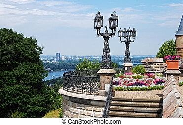 Terrace overlooking Bonn and River Rhine - Terrace...