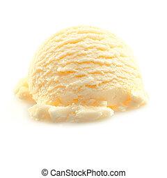 Scoop of Vanilla icecream - Scoop of yellow Vanilla icecream...