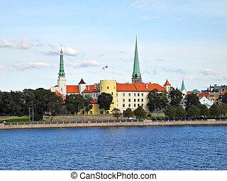 Riga Castle in Latvia - Castle of Riga in the Old Riga - the...