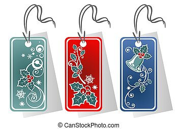 Christmas price tags - Three Christmas price tags isolated...