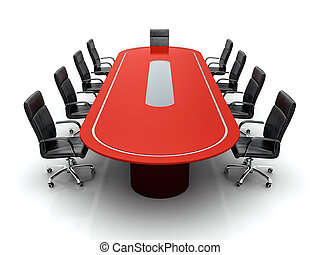 Conference table.