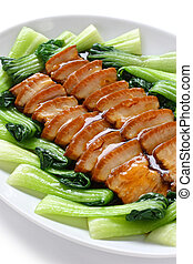 sliced braised pork belly - chinese cuisine