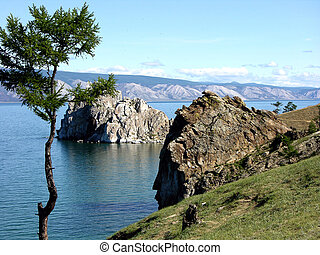 Burkhan Cape Lake Baikal - Burkhan Cape, one of the six most...