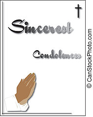 condolenace card - condoleance card for funeral or sending...
