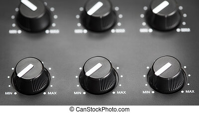 Volume Knobs - volume knobs with calibration on plastic...