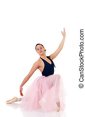Pretty ballerina - Portrait of a dancing ballerina, ballet...
