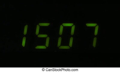 Digital led counter from fifteen