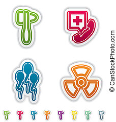 "Healthcare - 4 icons in ""Healthcare"" from left to right:..."