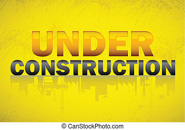 Under Construction Banner - illustration of under...